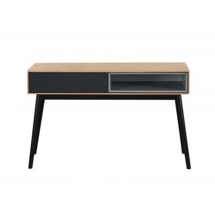 Consolle design 1 nicchia ADAMO 1 cassetto in legno (rovere chiaro)