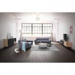 Furniture design low TV 2 niches 1 door 2 drawers ADAMO wooden (light oak)