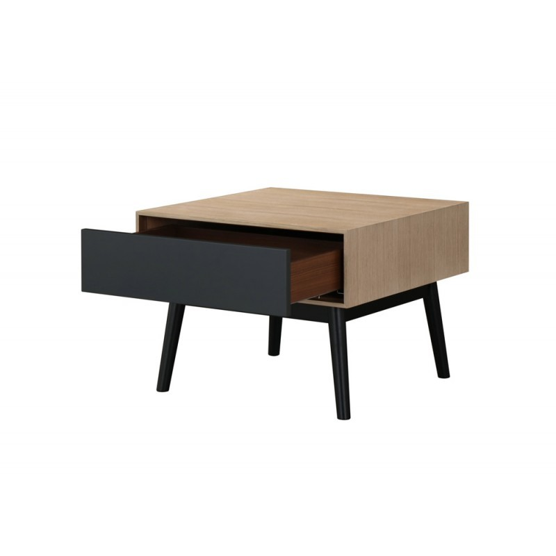 table d 39 appoint bout de canap design 1 tiroir adamo en. Black Bedroom Furniture Sets. Home Design Ideas