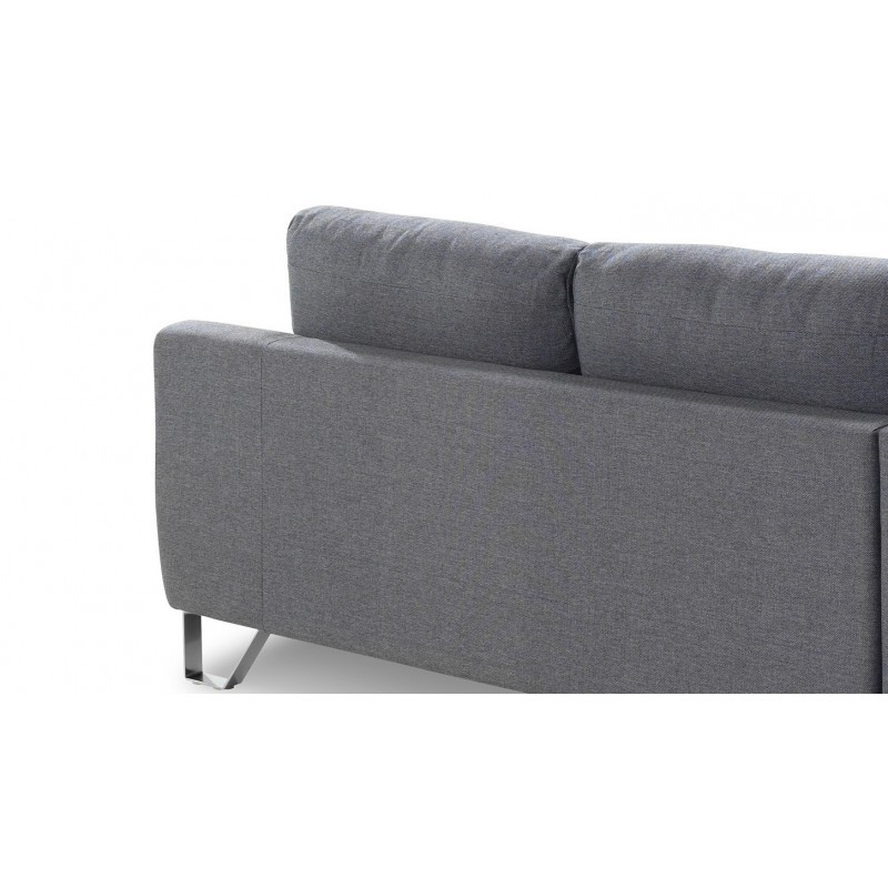 Corner sofa design left 3 places with VLADIMIR chaise in fabric (grey) - image 36452