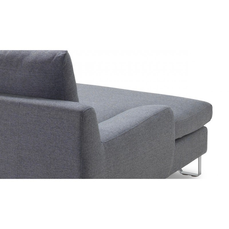 Corner sofa design left 3 places with VLADIMIR chaise in fabric (grey) - image 36453