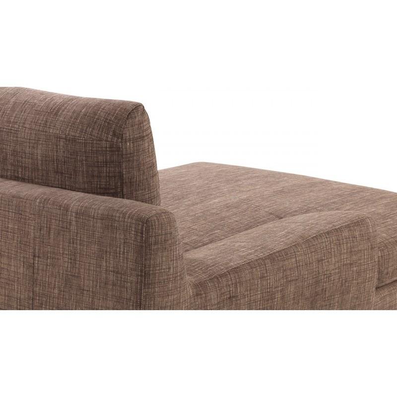 Canapé d'angle côté Gauche design 3 places avec méridienne VLADIMIR en tissu (marron) - image 36460