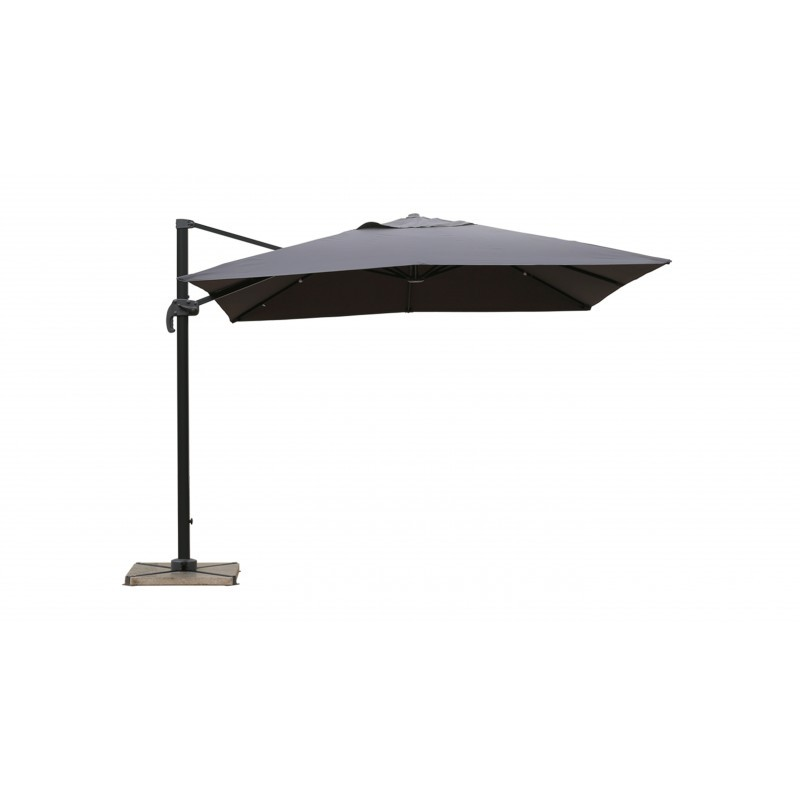 Parasol deported square with ventilation 2.5 m x 2.5 m NIKA (gray) - image 36511
