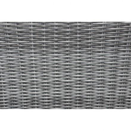 Gartenmöbel 4 Sitzer PAMELA gewebt Harz (weiß, grau Kissen) - AMP Story 5469