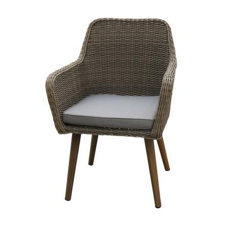Set di 2 sedie giardino Nastassja in resina intrecciata e alluminio  (naturale, marrone) - AMP Story 5475