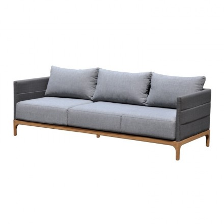 Teca de muebles de jardín 6 plazas CASIMIR (gris)