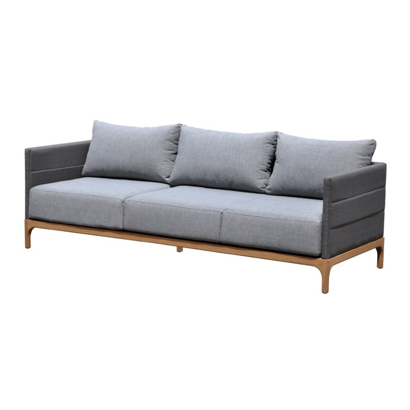 Garden furniture 6 seater CASIMIR teak (charcoal gray) - image 36557