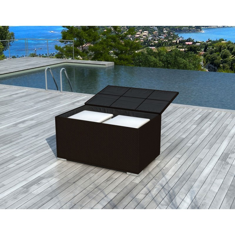 Chest BOX storage in woven resin (Brown) - image 36588