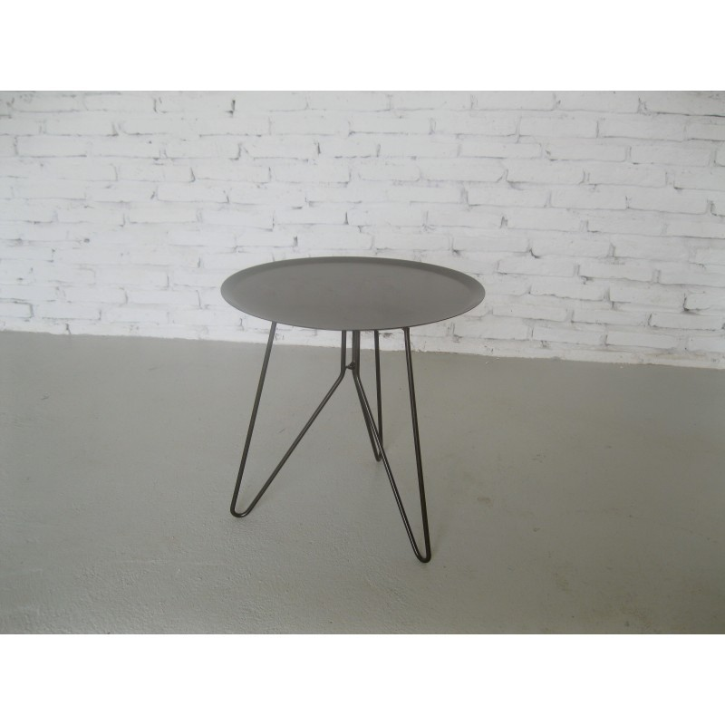 Table low end design table MAKAR (gray) painted metal - image 36595
