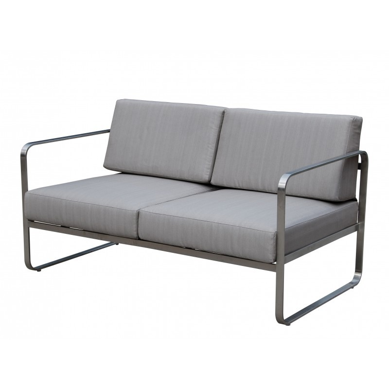 Garden furniture 4 seater VITALY fabric and metal (taupe) - image 36608