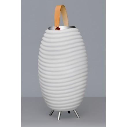 Lampe LED seau à champagne haut-parleur enceinte bluetooth KOODUU SYNERGIE 35 (blanc)