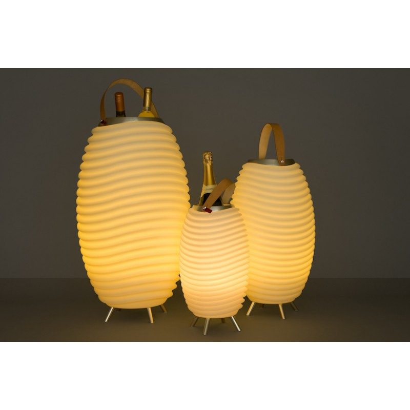 Lampe LED seau à champagne haut-parleur enceinte bluetooth KOODUU SYNERGIE S 35 (blanc) - image 36631