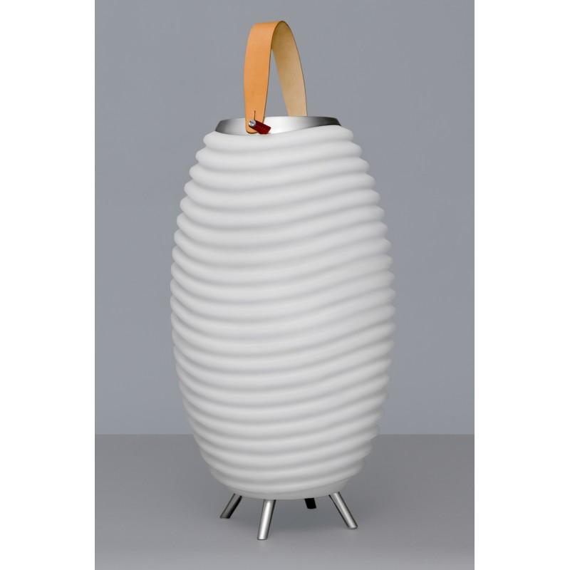 Lampe LED seau à champagne haut-parleur enceinte bluetooth KOODUU SYNERGIE 50 (blanc) - image 36633
