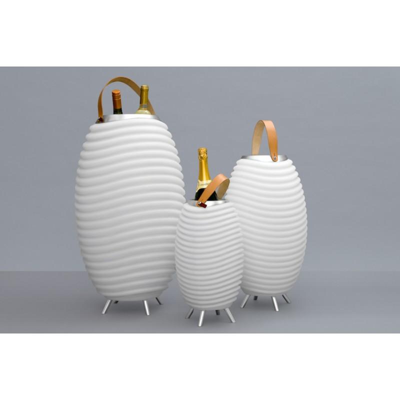 Lampe LED seau à champagne haut-parleur enceinte bluetooth KOODUU SYNERGIE 50 (blanc) - image 36634
