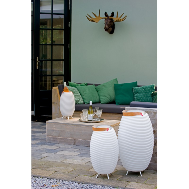 Lampe LED seau à champagne haut-parleur enceinte bluetooth KOODUU SYNERGIE 50 (blanc) - image 36638
