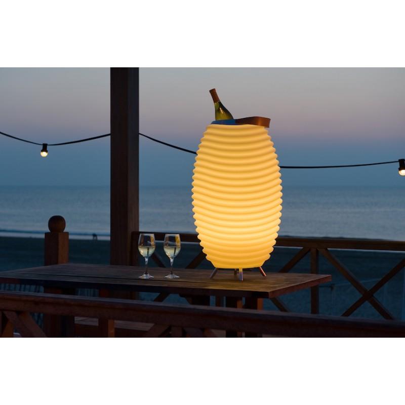 Lampe LED seau à champagne haut-parleur enceinte bluetooth KOODUU SYNERGIE 50 (blanc) - image 36640