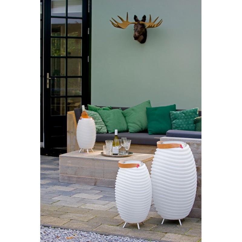 Lampe LED seau à champagne haut-parleur enceinte bluetooth KOODUU SYNERGIE S 65 (blanc) - image 36648