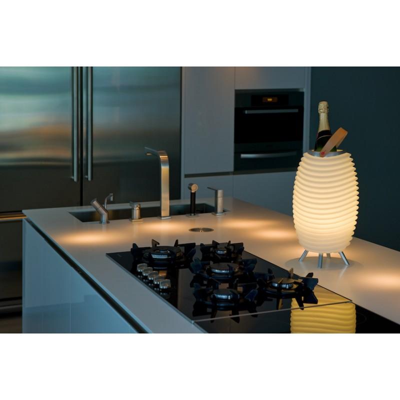 Lampe LED seau à champagne haut-parleur enceinte bluetooth KOODUU SYNERGIE S 65 (blanc) - image 36652