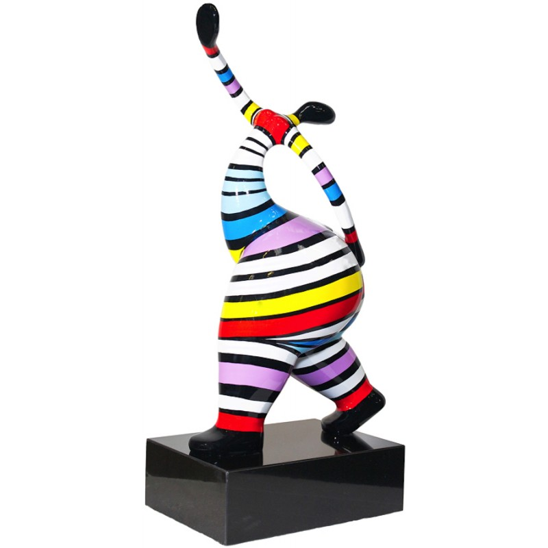 Statuette design decorative sculpture woman standing in resin H61 (multicolor) - image 36664