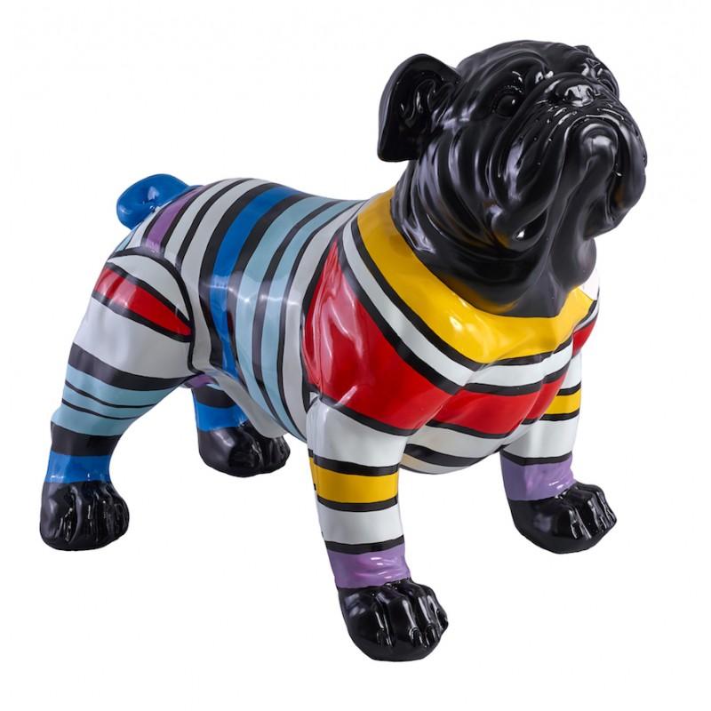 Arañazos de perro de diseño decorativo estatua escultura en resina (multicolor)