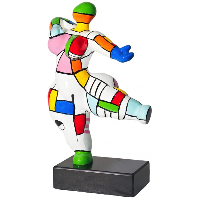 Set di 2 statue sculture decorative disegno COUPLE in resina H34 (multicolore) - image 36687