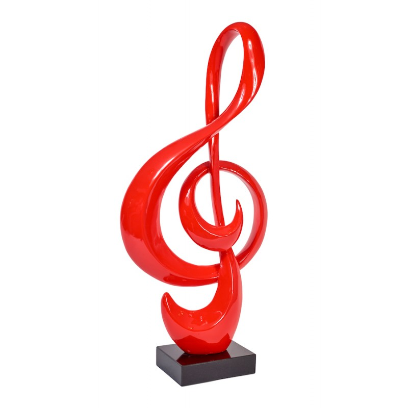 Statue sculpture decorative design key of ground resin (red)