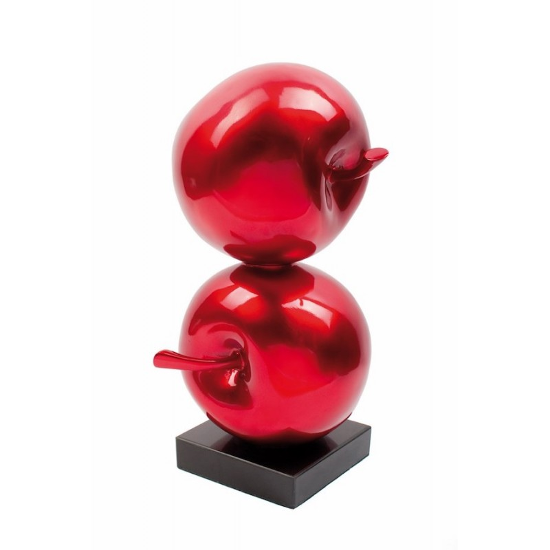 Statue sculpture decorative design Apple DOUBLE resin (red)