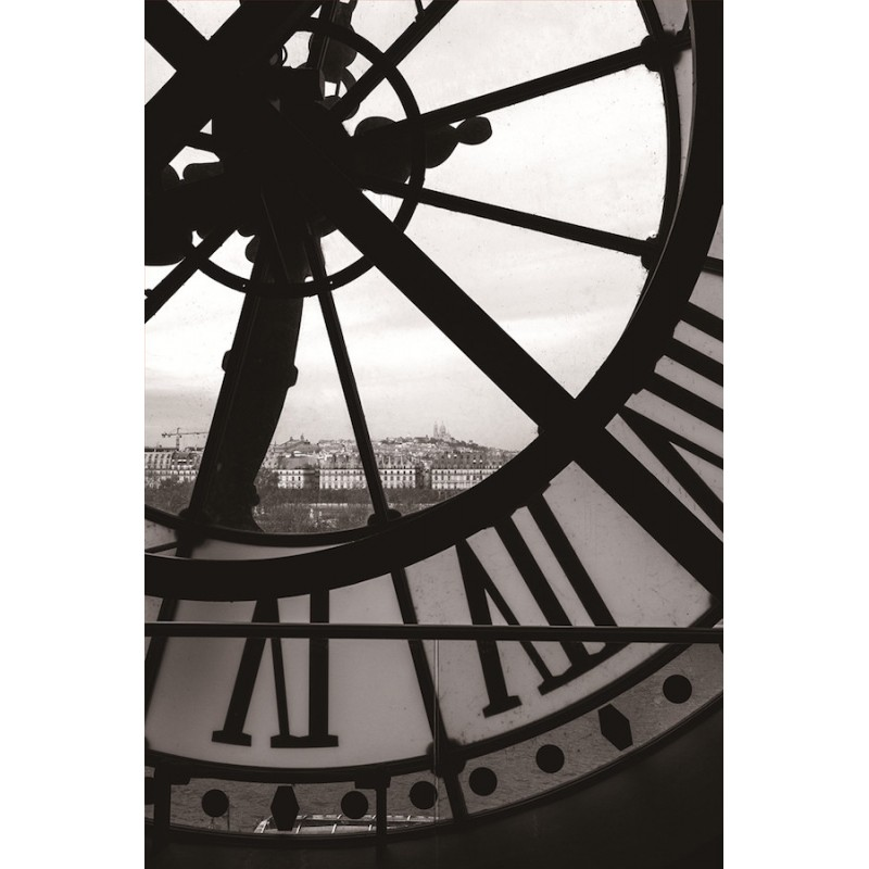 Painting on glass clock (black, white) - image 36714