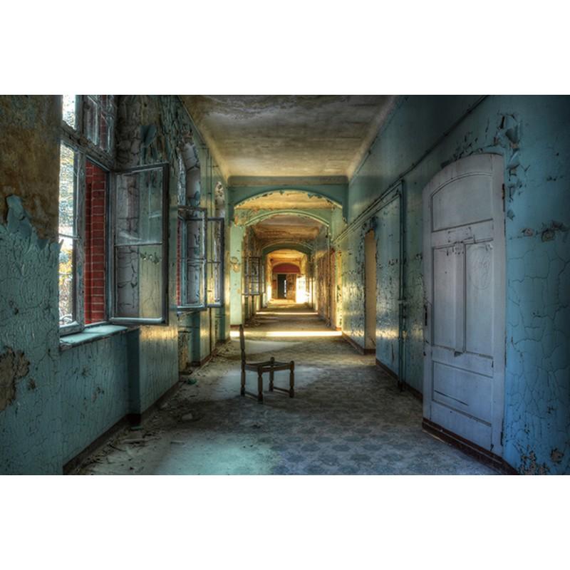 Malerei auf Glas Korridor (blau, braun)