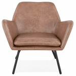 Lounge chair design and retro HIRO (Brown)