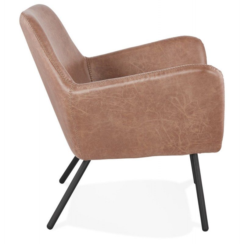 Lounge chair design and retro HIRO (Brown) - image 36726