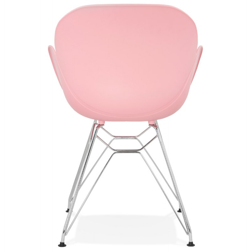 Design chair industrial style tom polypropylene foot for Metal design chair