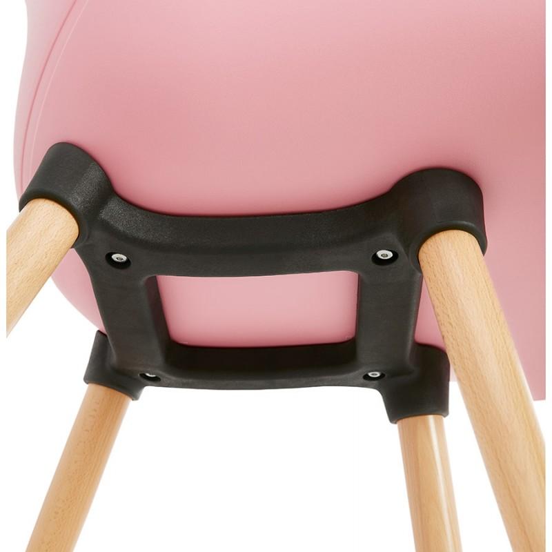 Design Stuhl Stil skandinavischen LENA Polypropylen (rosa Pulver) - image 36765
