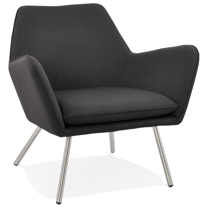 Design lounge YORI fabric Chair (charcoal gray) - image 36794