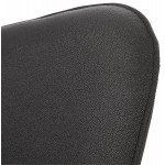 Design lounge YORI tessuto sedia (grigio antracite)
