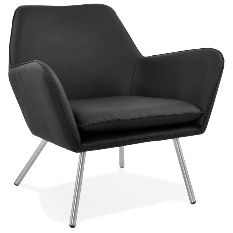 Design Retro Fauteuil.Lounge Chair Design And Retro Hiro Black Chairs