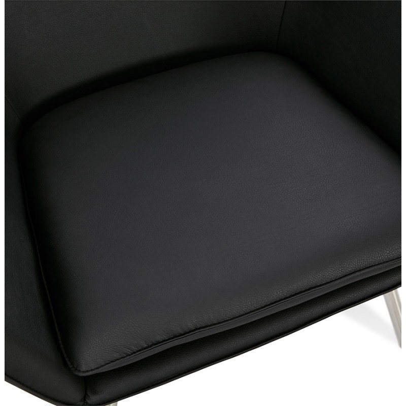 Chaise longue design e HIRO retrò (nero) - image 36813
