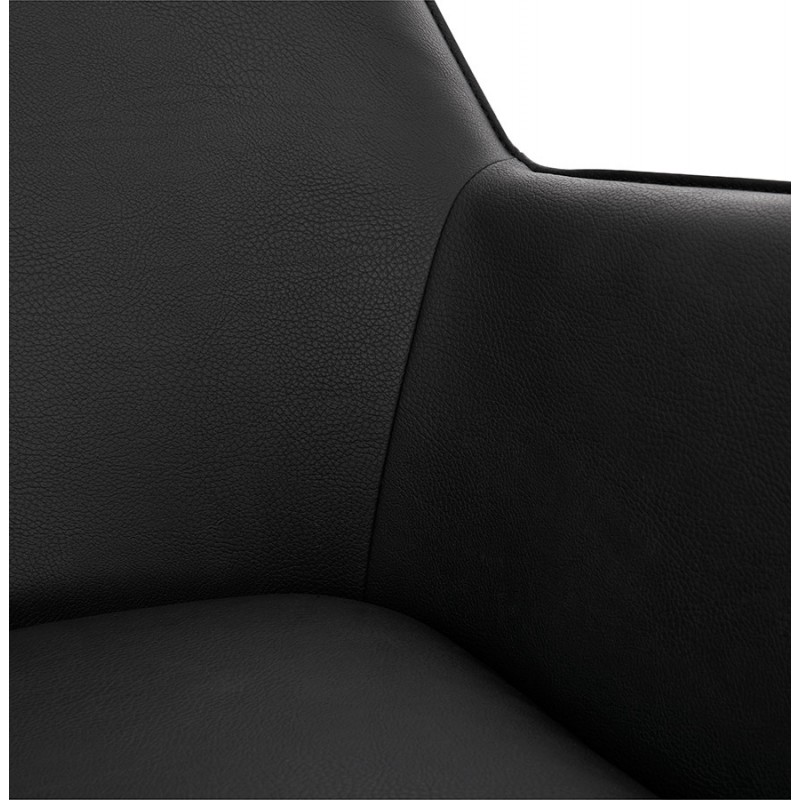 Chaise longue design e HIRO retrò (nero) - image 36816