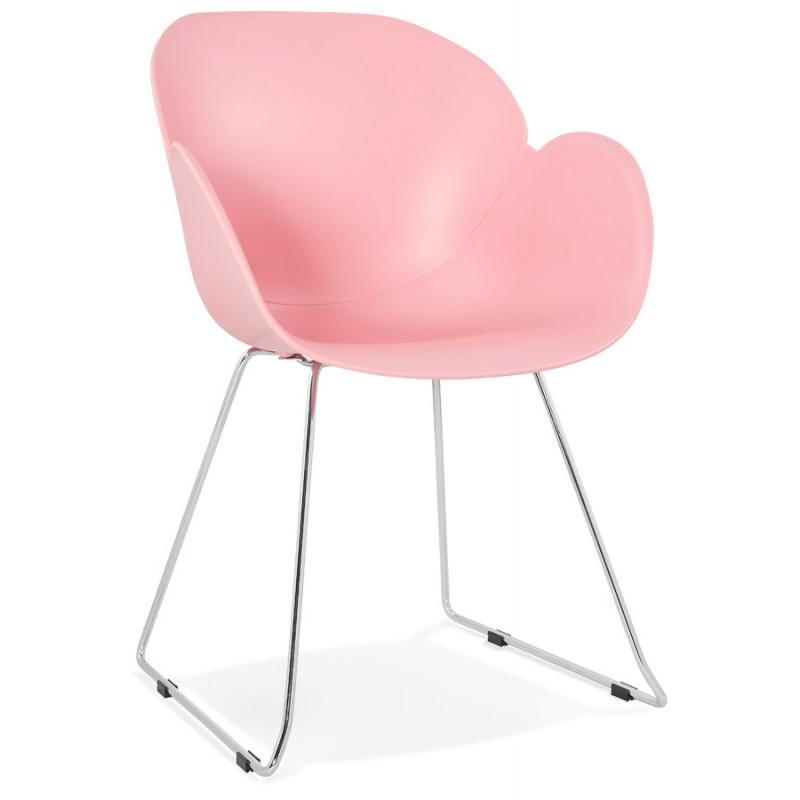 Design Stuhl Fuß konisch ADELE Polypropylen (rosa Pulver) - image 36881