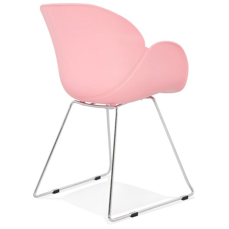Design Stuhl Fuß konisch ADELE Polypropylen (rosa Pulver) - image 36884