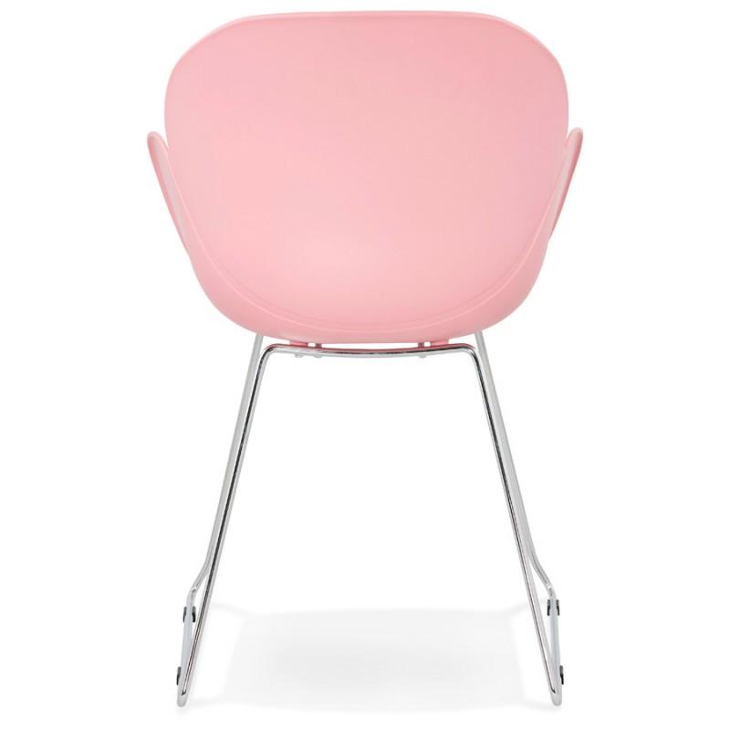 Design Stuhl Fuß konisch ADELE Polypropylen (rosa Pulver) - image 36885