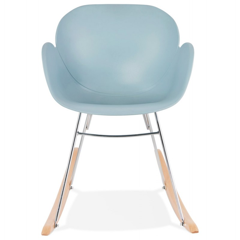 Rocking design EDEN (sky blue) polypropylene Chair - image 36921