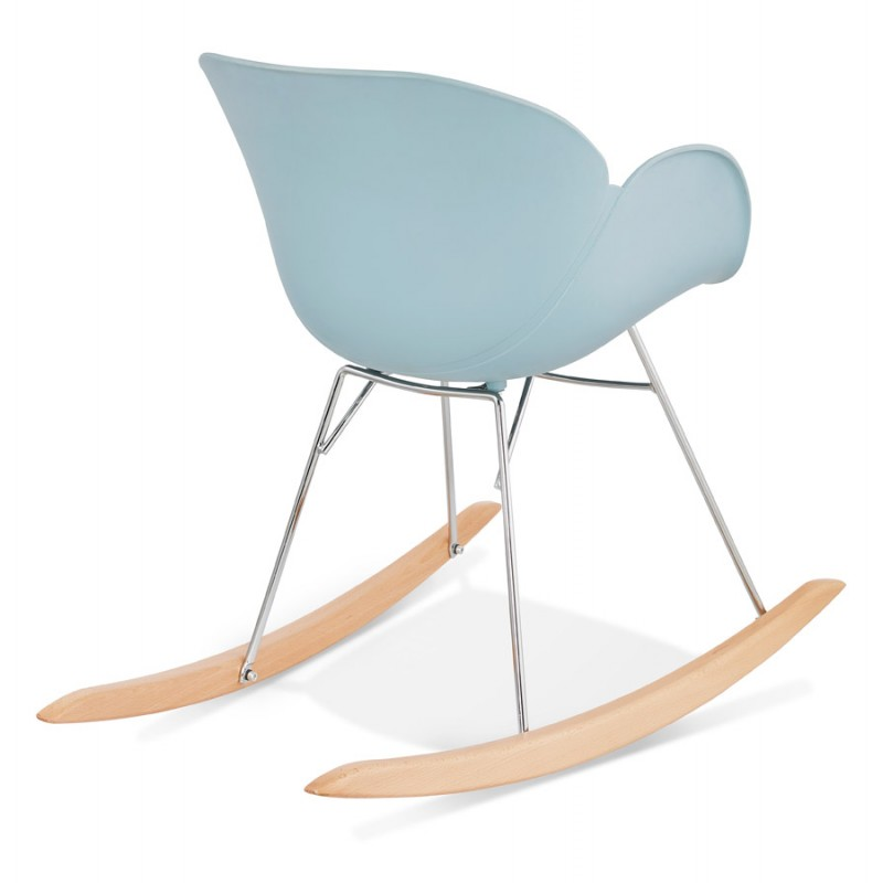 Rocking design EDEN (sky blue) polypropylene Chair - image 36923
