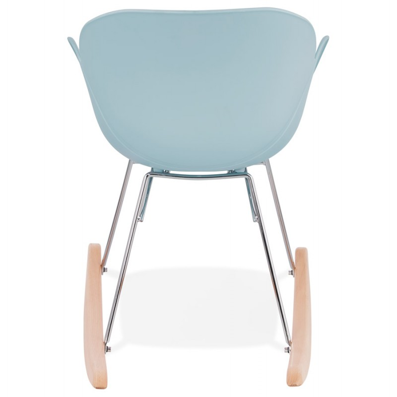 Rocking design EDEN (sky blue) polypropylene Chair - image 36924