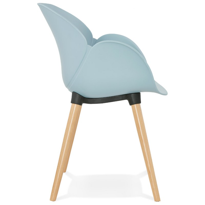 Design chair style Scandinavian LENA polypropylene (sky blue) - image 36948