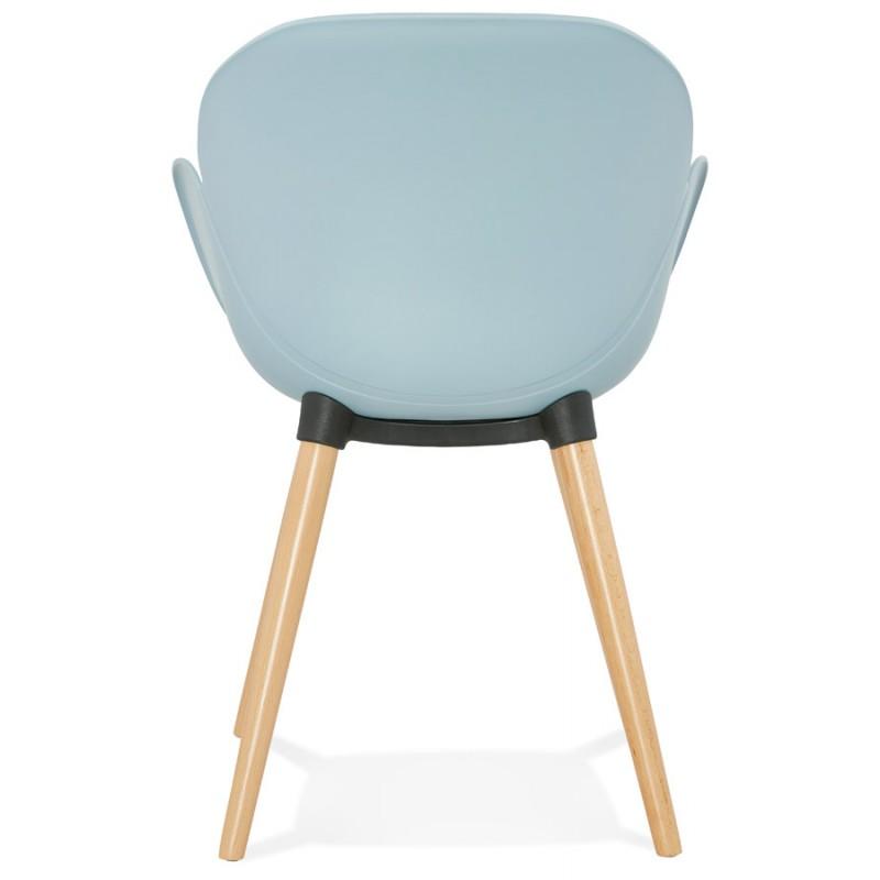 Chaise design style scandinave LENA en polypropylène (bleu ciel) - image 36950