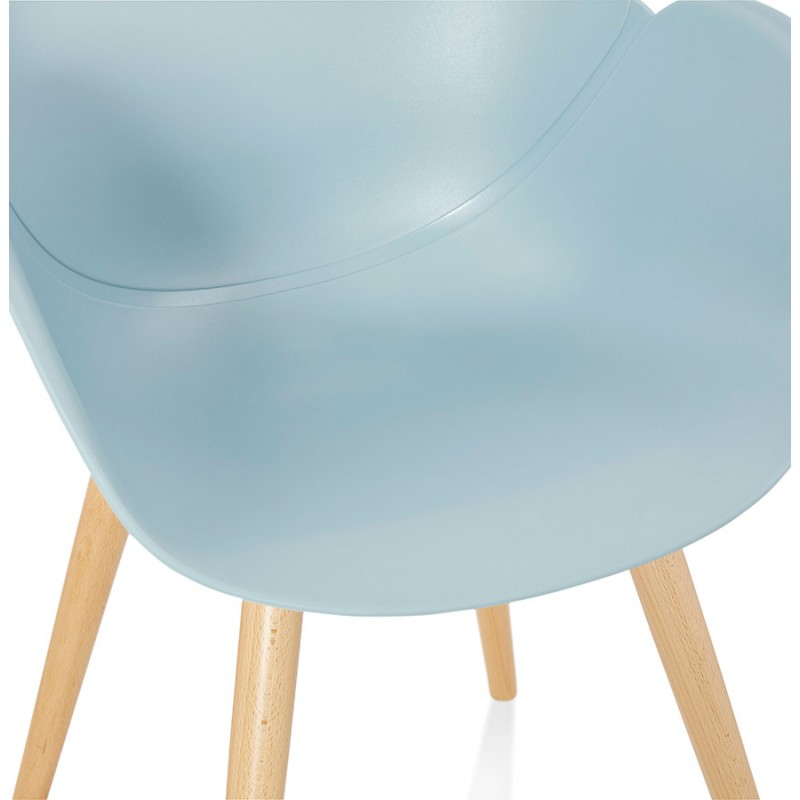 Design chair style Scandinavian LENA polypropylene (sky blue) - image 36951