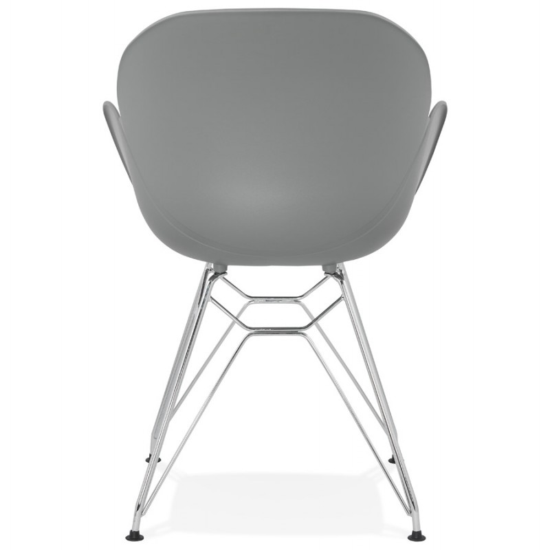 Design chair industrial style TOM polypropylene foot chromed metal (light gray) - image 36963