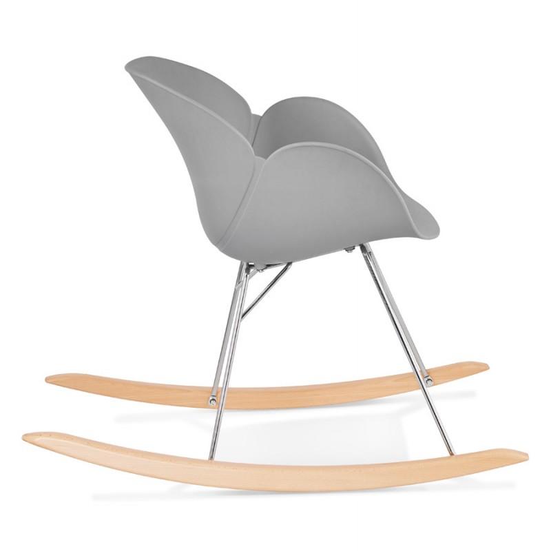 Mecedora dise o silla polipropileno eden gris claro - Mecedora diseno ...
