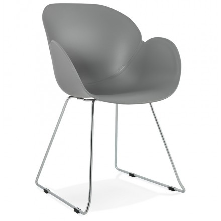 Design chair foot tapered ADELE polypropylene (light gray)